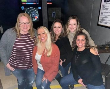 girls night out throwing axes in bridgeport, wv
